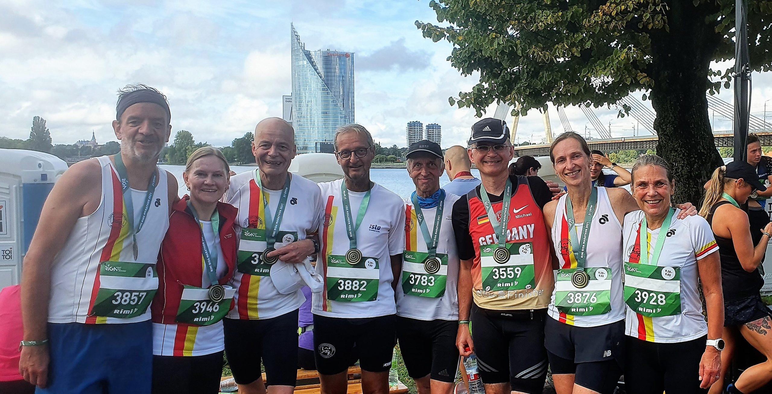 Rimi Riga Halbmarathon 2021 Finish